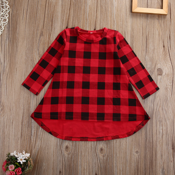 Red & Black Checkered Holiday Dress