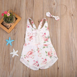 Blooming Flowers Romper And Headband