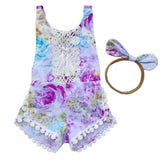Floral Lace Romper and Headband