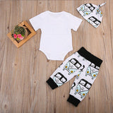 Love Outfit 3 Pcs Set  T-shirt + Pant + Hat