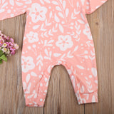 Pink Floral Jumpsuit and Headband