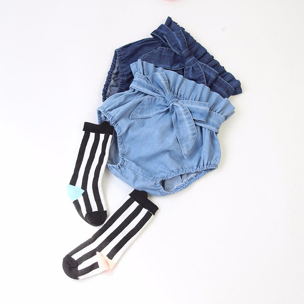 Jeans Ruffle Bloomers