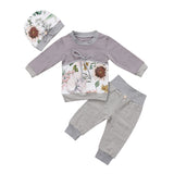 3 Pcs Sweet Warm Outfit