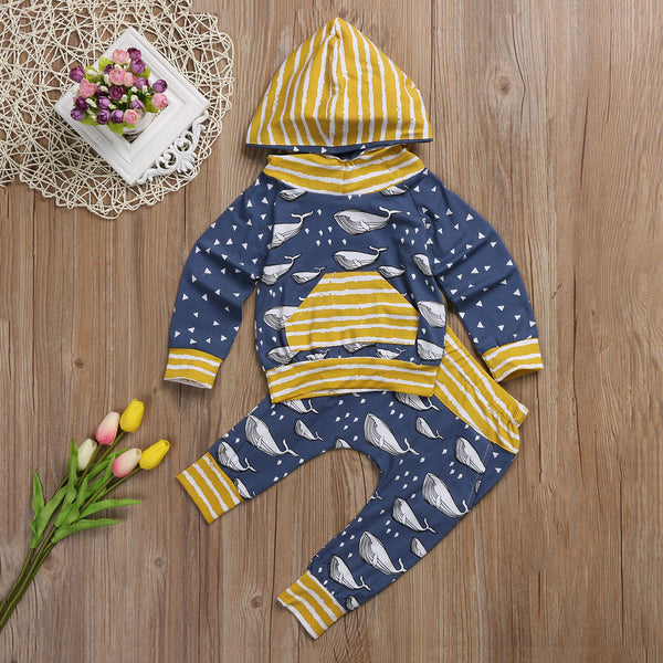 Ocean Of Whales Hooded Outfit