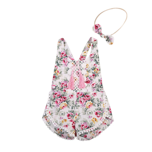 Stella Floral Romper And Headband