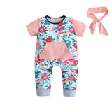 Sally's Little Flowers Romper And Headband