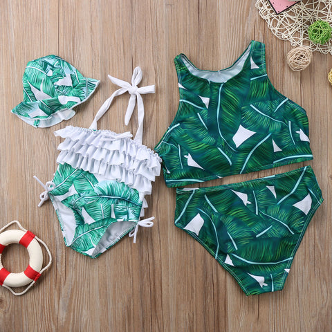 Mommy And Me Matching Palms Swimsuit