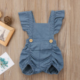 Little Farm Girl Denim Jumpsuit