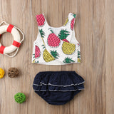 Pineapple Ruffled Outfit
