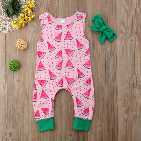 Watermelon Summer Romper