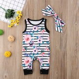Abby Flower Romper And Headband