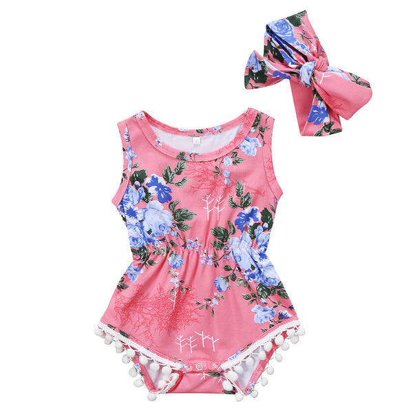 Audrey Floral Romper And Headband