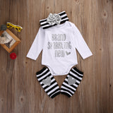Brand Sparkling New 3 Pcs Baby Outfit