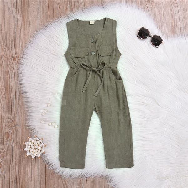 Forest Green Sleeveless Jumpsuit