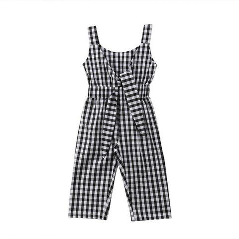 Black & White Checkerboard Romper