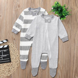 Grey Striped Sleepy Time Pajamas