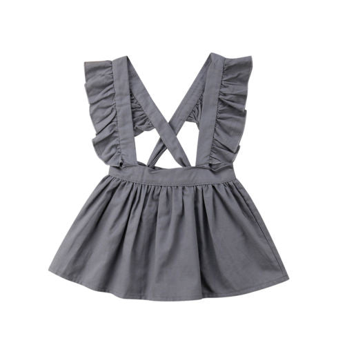 Girl Grey Ruffle Dress
