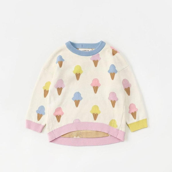 Everybody Loves Ice Cream Pullover Sweater