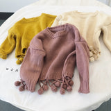 Tassel Pompom Sweater