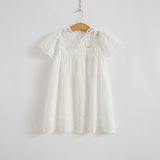 White Lace Princess Summer Dress