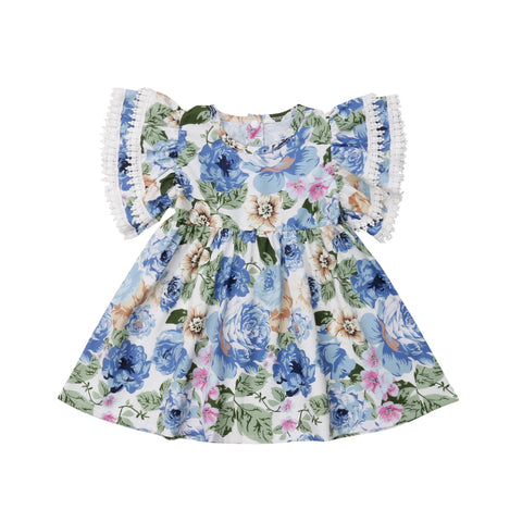 Celeste Floral Ruffle Dress