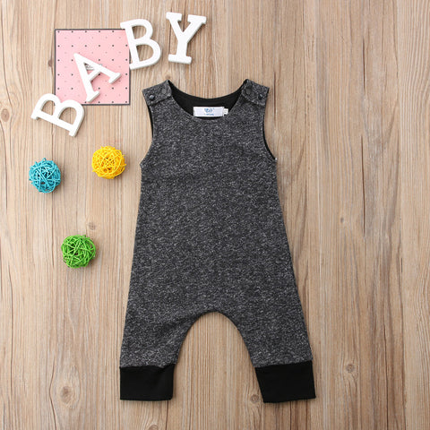 Basic Black Sleeveless Romper