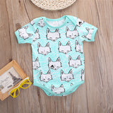 White Foxes Animal Print Onesie