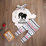 Little Peanut Elephant 2 Pcs. Romper Set