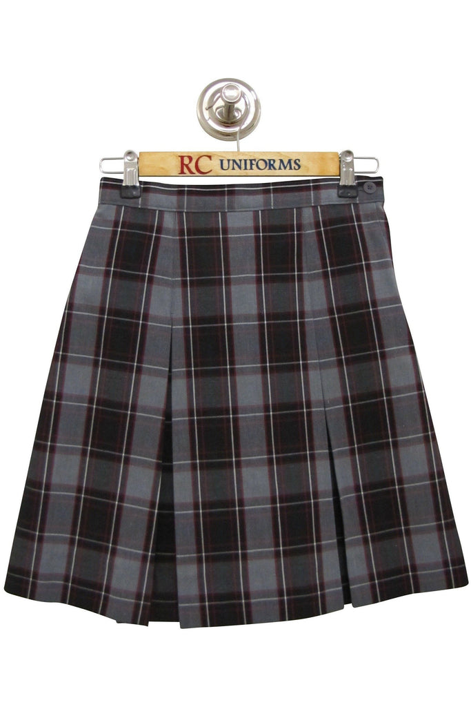 Plaid 52 Kick Pleat Skirt