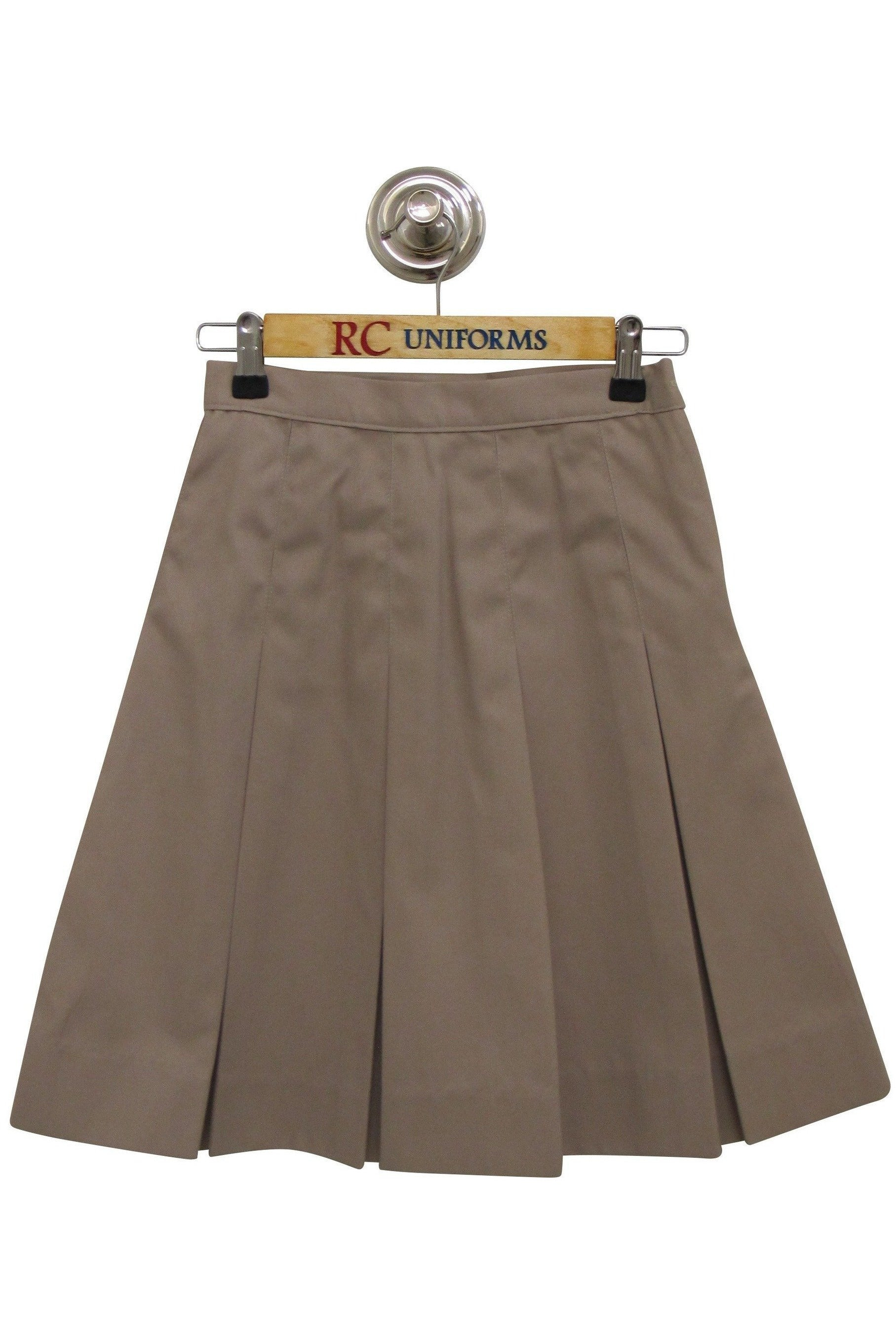 Khaki Box-Pleat Skirt - RC Uniforms