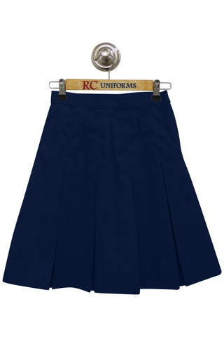 Navy Box-Pleat Skirt - RC Uniforms