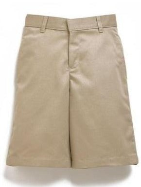 Boys Premium Label Khaki Long Shorts - RC Uniforms