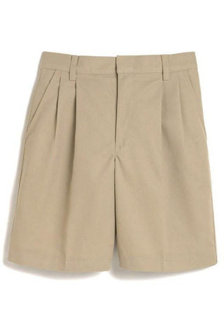 Boys Khaki Pleated Shorts - RC Uniforms