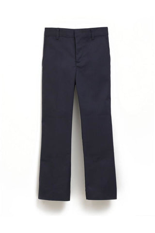 Boys Navy Flat Front Pants - RC Uniforms