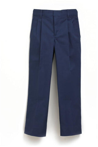 Boys Premium Label Navy Pleated Pants - RC Uniforms