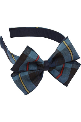 Plaid Headband with Bow - RC Uniforms