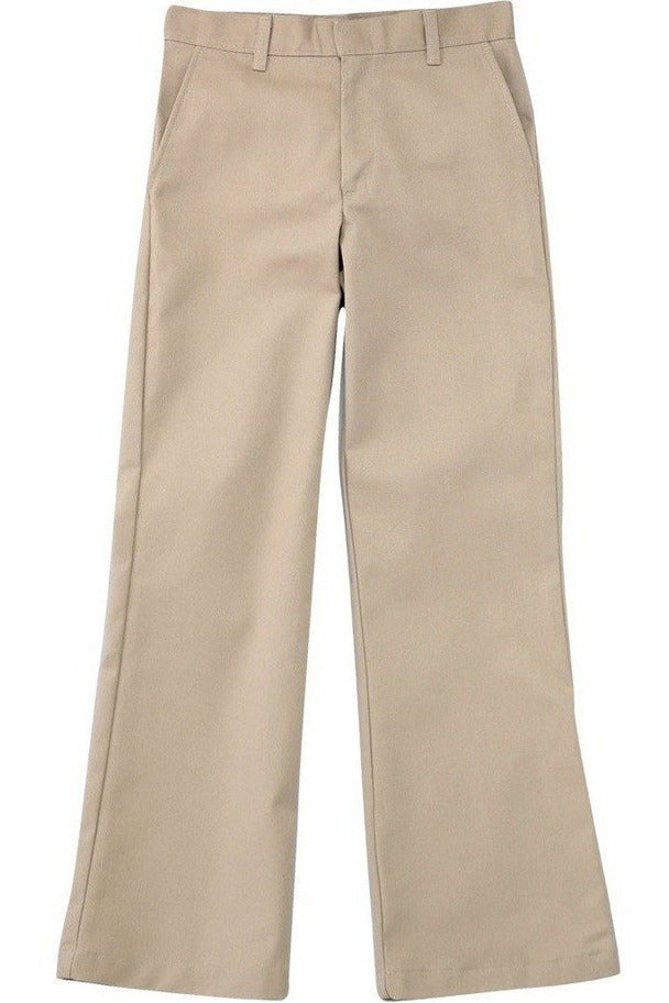 Girls Khaki Flat Front Stretch Pants - RC Uniforms