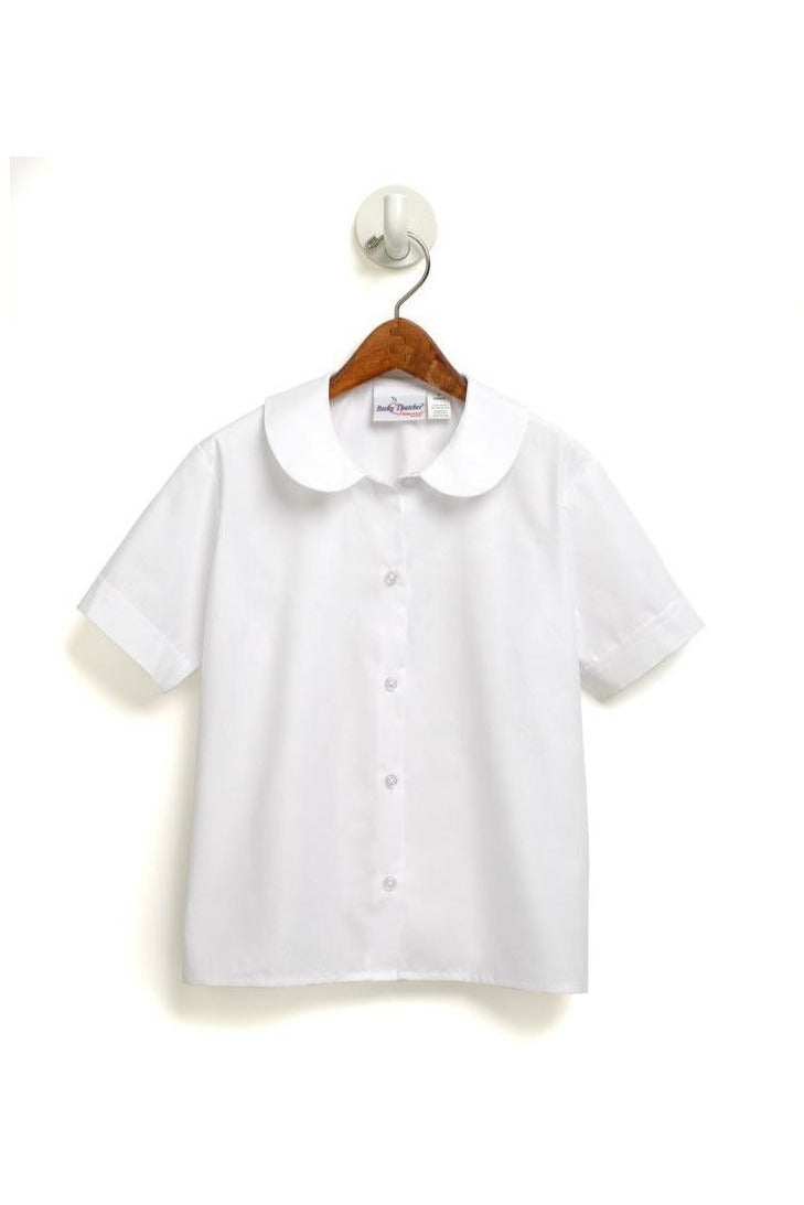 Short Sleeve Peter Pan Blouse with Logo - RC Uniforms