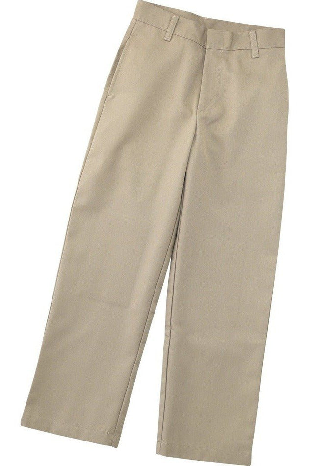 Boys Khaki Flat Front Pants - RC Uniforms