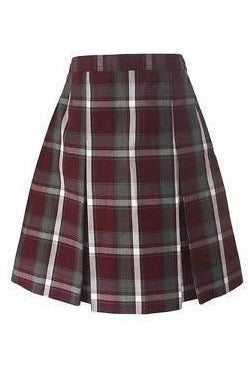 Plaid 54 Kick Pleat Skirt - RC Uniforms