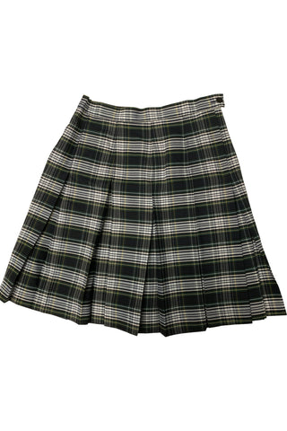 Green & White Plaid Pleated Skirt - RC Uniforms