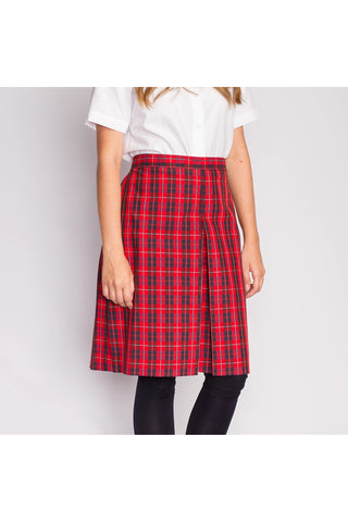 Red Plaid Culottes - RC Uniforms