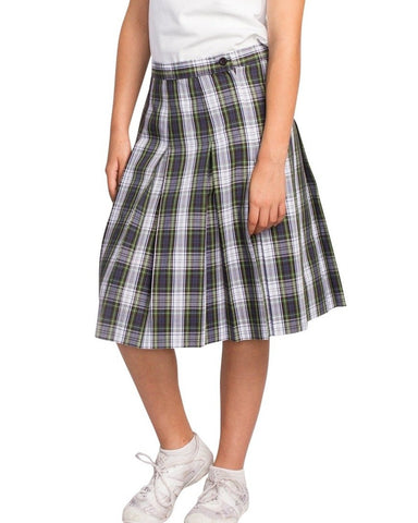 Plaid 161 Box Pleat Skirt - RC Uniforms
