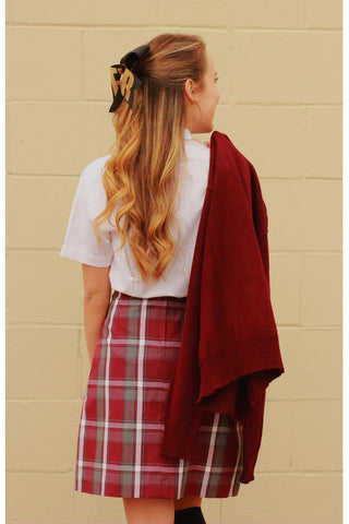Plaid 54 Flat Back Two-Pleat Skirt - RC Uniforms