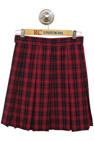Plaid 65 Box Pleat Skirt - RC Uniforms