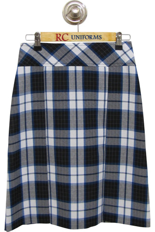 Blue and Black Plaid Two-Pleat Skirt - RC Uniforms