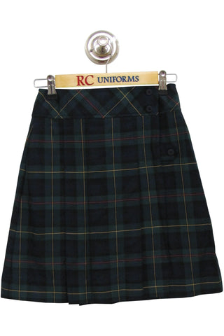 Plaid 832 Mock Wrap Skirt