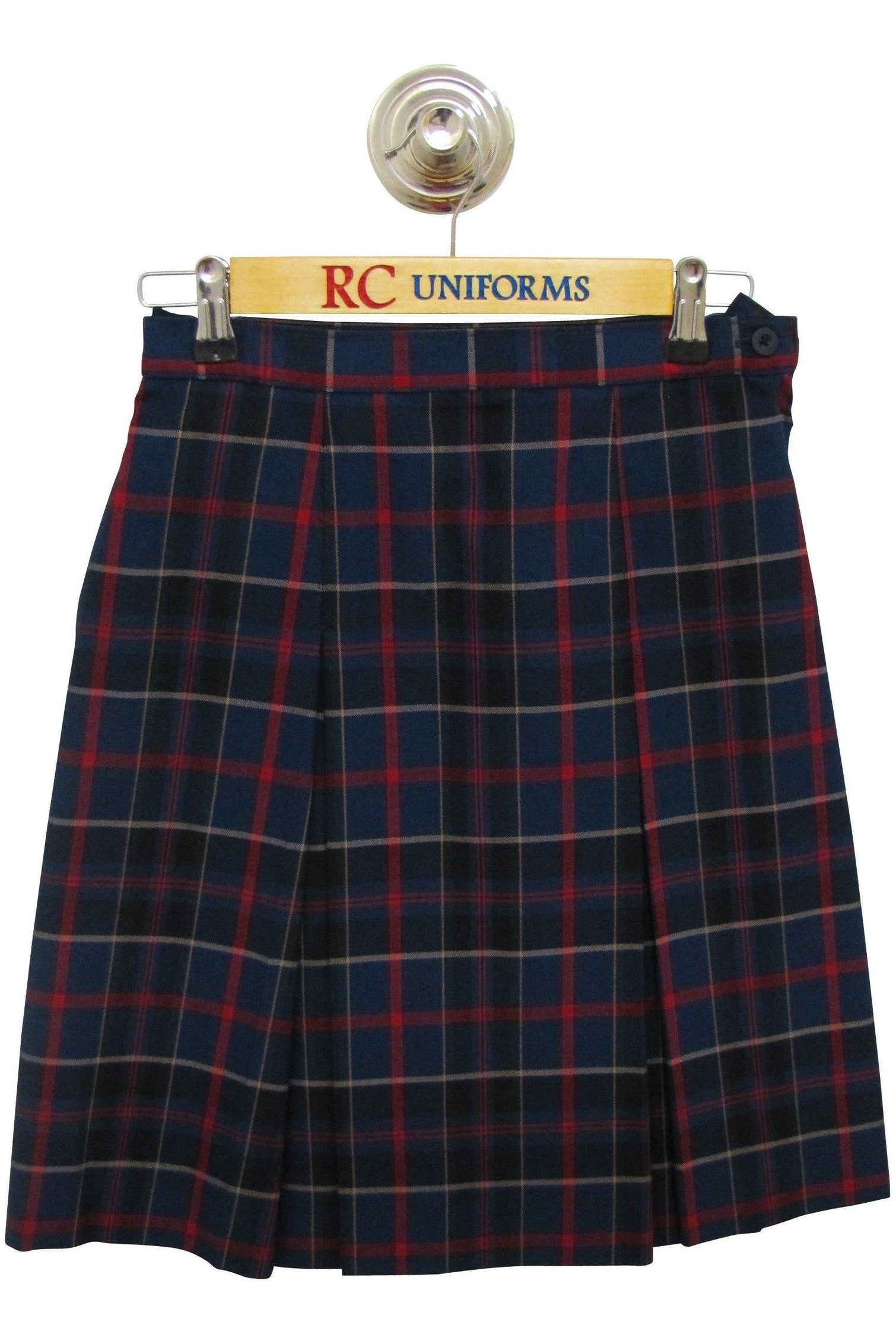 Plaid 93 Box Pleat Skirt - RC Uniforms