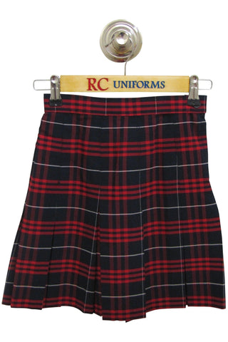 Plaid 37 Box Pleat Skirt - RC Uniforms