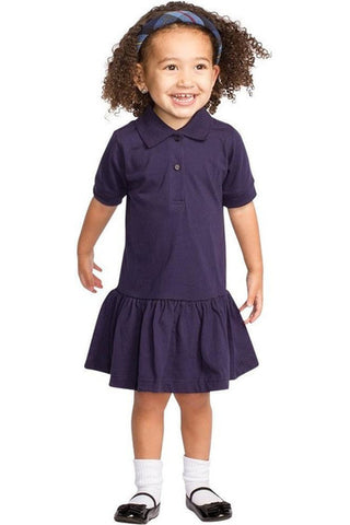 Navy Short Sleeve Polo Dress - RC Uniforms